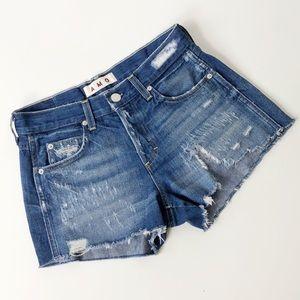 AMO Tomboy Short High Rise Distressed Jean Shorts